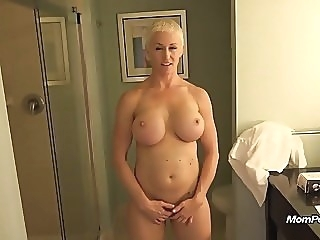 Busty MILF is a total freak mature milf pov video