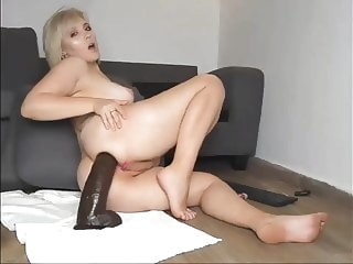 Pregnant anal fuck with a huge toy anal blonde sex toy video