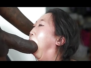 Monster BBC overwhelms her tiny mouth asian blowjob hd videos video