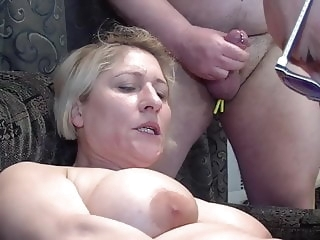 Lets fuck her together! blonde sex toy mature video