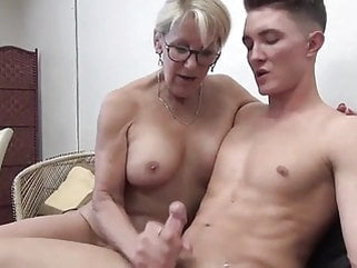 Sexy MUM Sucks and FUCKS blowjob cumshot milf video