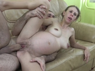 Emy Leslie Taylor busty pregnant MILF brunette european milf video