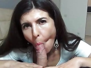 Mom shows she Blows Best blowjob mature milf video