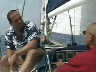 Hot brunette fucked at sea by an old man old & young italian  video