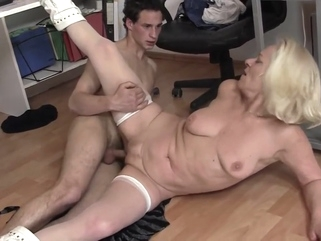 granny sara office sex amateur big tits granny video